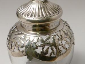 Tintero inglés s XIX, plata contrastada