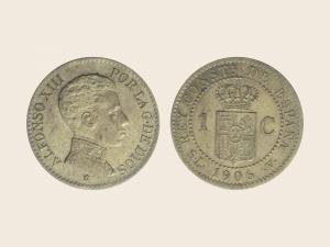 1 Céntimo Alfonso XIII